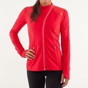 Lululemon Run Track Time Jacket Currant in Red